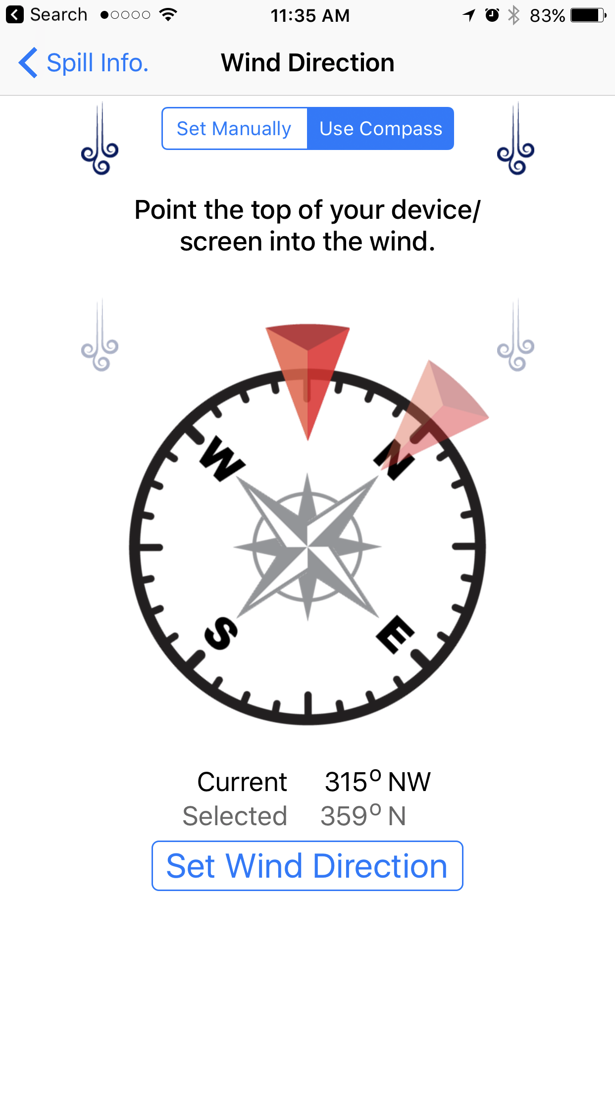 iPhone Compass Example