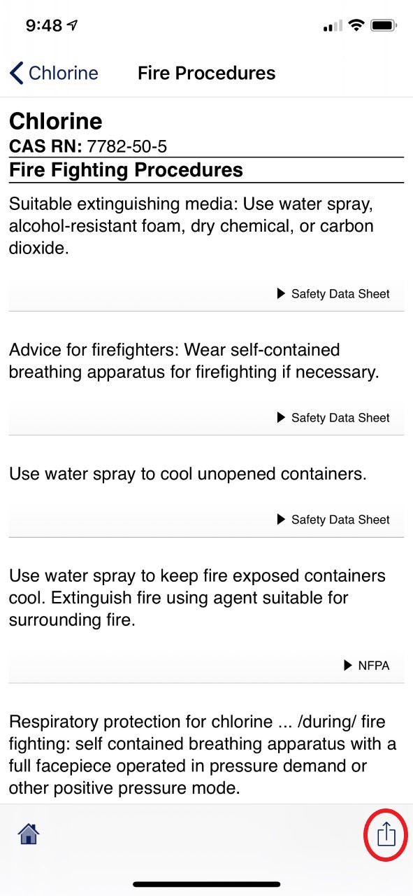 Share iOS - Fire Fighting Procedures